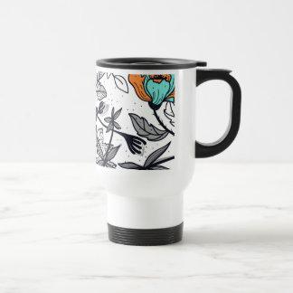 Bohemian Boho MOD Hippy Chic Flower Floral 15 Oz Stainless Steel Travel Mug