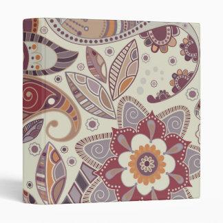 Bohemian Boho MOD Hippy Chic Flower Pattern Binder