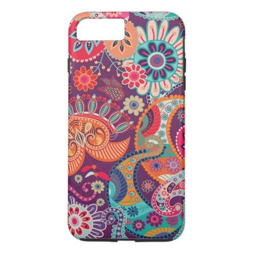 Bohemian Boho MOD Hippy Chic Flower Pattern Phone Case
