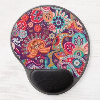Bohemian Boho MOD Hippy Chic Flower Pattern Gel Mouse Pad