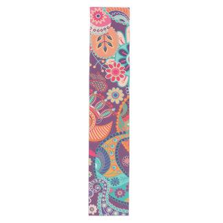 Bohemian Boho MOD Hippy Chic Flower Pattern Medium Table Runner