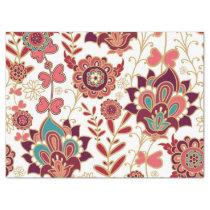 Bohemian Boho MOD Hippy Chic Flower Pattern Tissue Paper