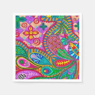 Bohemian Boho MOD Pattern Paper Napkin