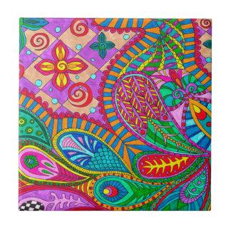 Bohemian Boho MOD Pattern Ceramic Tiles