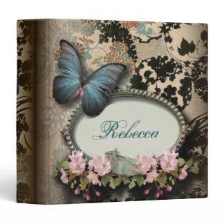 Bohemian Botanical butterfly Paris bridal shower 3 Ring Binder