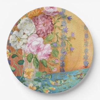 Bohemian Bouquet Paper Plate 9 Inch Paper Plate