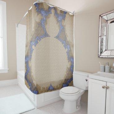 Professional Business Bohemian_Buddha(c) Sepia-Blue_ Bathroom_ Shower Curtain