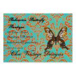 Bohemian Butterfly Boutique Turqoise & Orange Dama Business Card