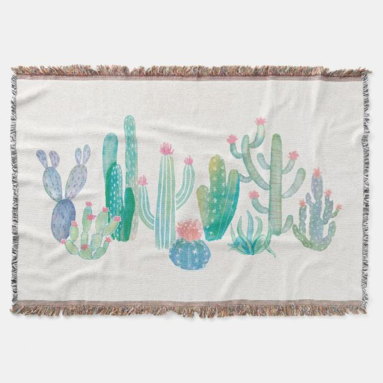 Bohemian Cactus Throw