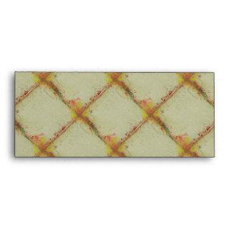 Bohemian Checkerboard Grunge Pattern Envelope