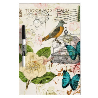 bohemian chic butterfly birdcage french bird Dry-Erase board