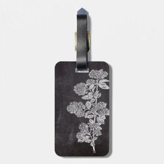 Bohemian Chic french country chalkboard botanical Luggage Tag