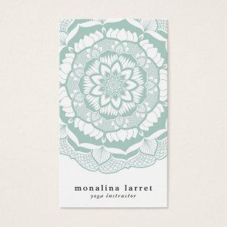 Bohemian Chic Henna Mehendi Mandala Pattern Business Card