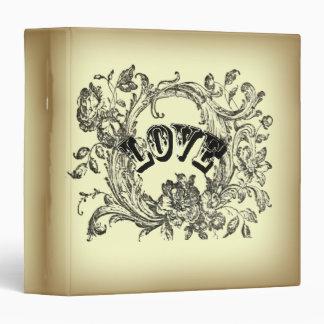 bohemian chic old fashion flourish swirls ornate 3 ring binder
