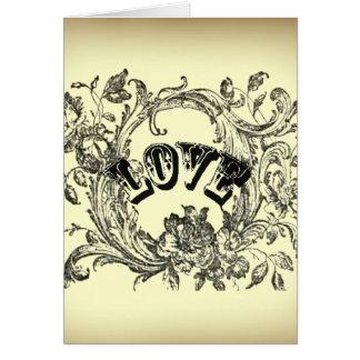 bohemian chic old fashion flourish swirls ornate card