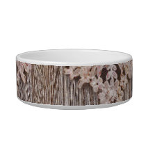 bohemian chic western country wood floral lace bowl