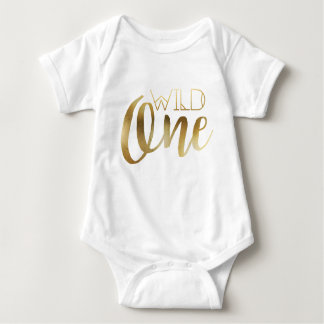Bohemian Chic Wild One | Tribal Gold Foil Baby Bodysuit