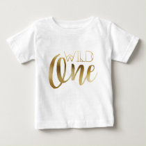 Bohemian Chic Wild One | Tribal Gold Foil Baby T-Shirt