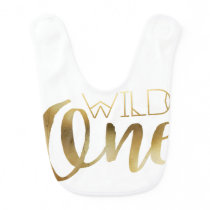 Bohemian Chic Wild One | Tribal Gold Foil Bib