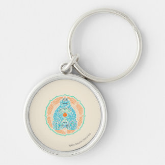 Bohemian Cookie Monster Keychain