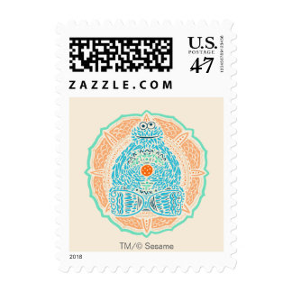 Bohemian Cookie Monster Postage Stamp