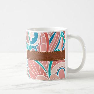 Bohemian, Coral and Teal Mug