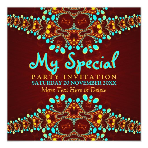 Bohemian Diva Special Event Party Invitation