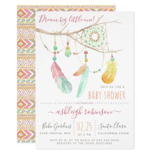 Bohemian baby shower invitations zazzle bohemian dream catcher baby girl shower invitation filmwisefo