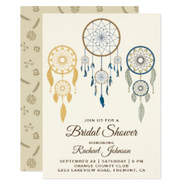 Bohemian Dream Catcher Tribal Bridal Shower Invite