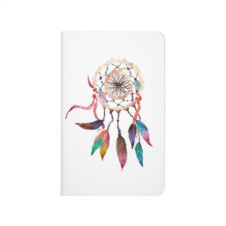 Bohemian Dreamcatcher in Vibrant Watercolor Paint Journal