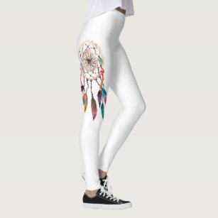 5404bd5b74183 Bohemian Dreamcatcher in Vibrant Watercolor Paint Leggings