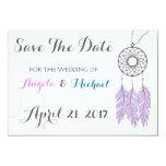 Bohemian Dreamcatcher Rustic Wedding Save The Date Card