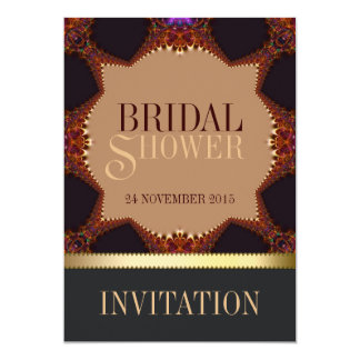 "Bohemian Earth Lace Bridal Shower Invitation 5"" X 7"" Invitation Card"