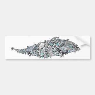 Bohemian Feather Bumper Sticker