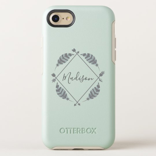 Owl Feathers in Mint iphone 11 case
