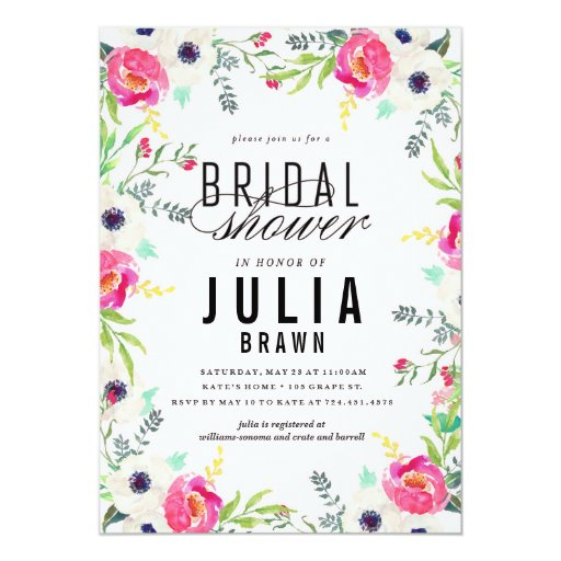 Make Bridal Shower Invitations with nice invitation template
