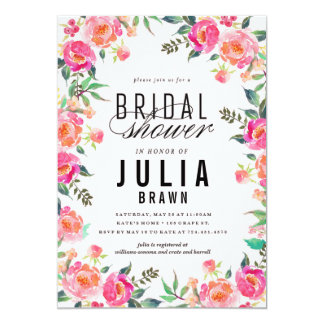 BOHEMIAN FLORAL bridal shower invitation