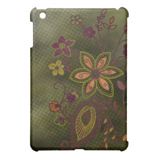 Bohemian Floral iPad Case (olive)