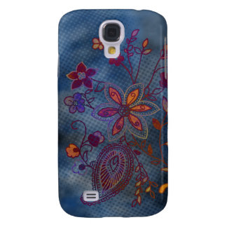 Bohemian Floral iPhone 3G Case (blue)