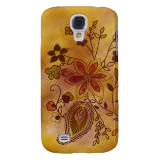 Bohemian Floral iPhone 3G Case (gold)
