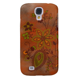 Bohemian Floral iPhone 3G Case (pumpkin)