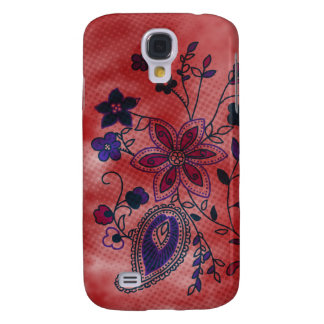 Bohemian Floral iPhone 3G Case (red)