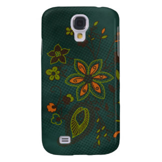 Bohemian Floral iPhone 3G Case (teal with green)