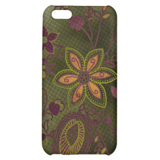 Bohemian Floral iPhone 4 Case (olive)