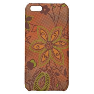 Bohemian Floral iPhone 4 Case (pumpkin)