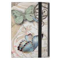 bohemian floral shabby chic parisian eiffel tower iPad mini cover
