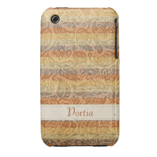 Bohemian Floral Stripes Case-Mate iPhone 3 Cases