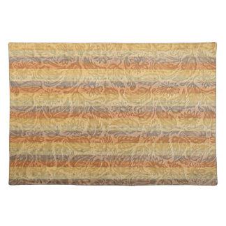 Bohemian Floral Stripes Placemat