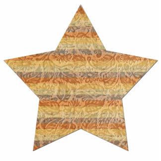Bohemian Floral Stripes Star Statuette