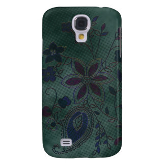 Bohemian Floral (teal with blue) Samsung S4 Case